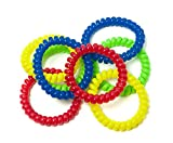 Chewable Jewelry Large Coil Bracelet - Fun Sensory Motor Aid - Speech And Communication Aid - Great For Autism And Sensory-Focused Kids 8 Pack 4 Colors