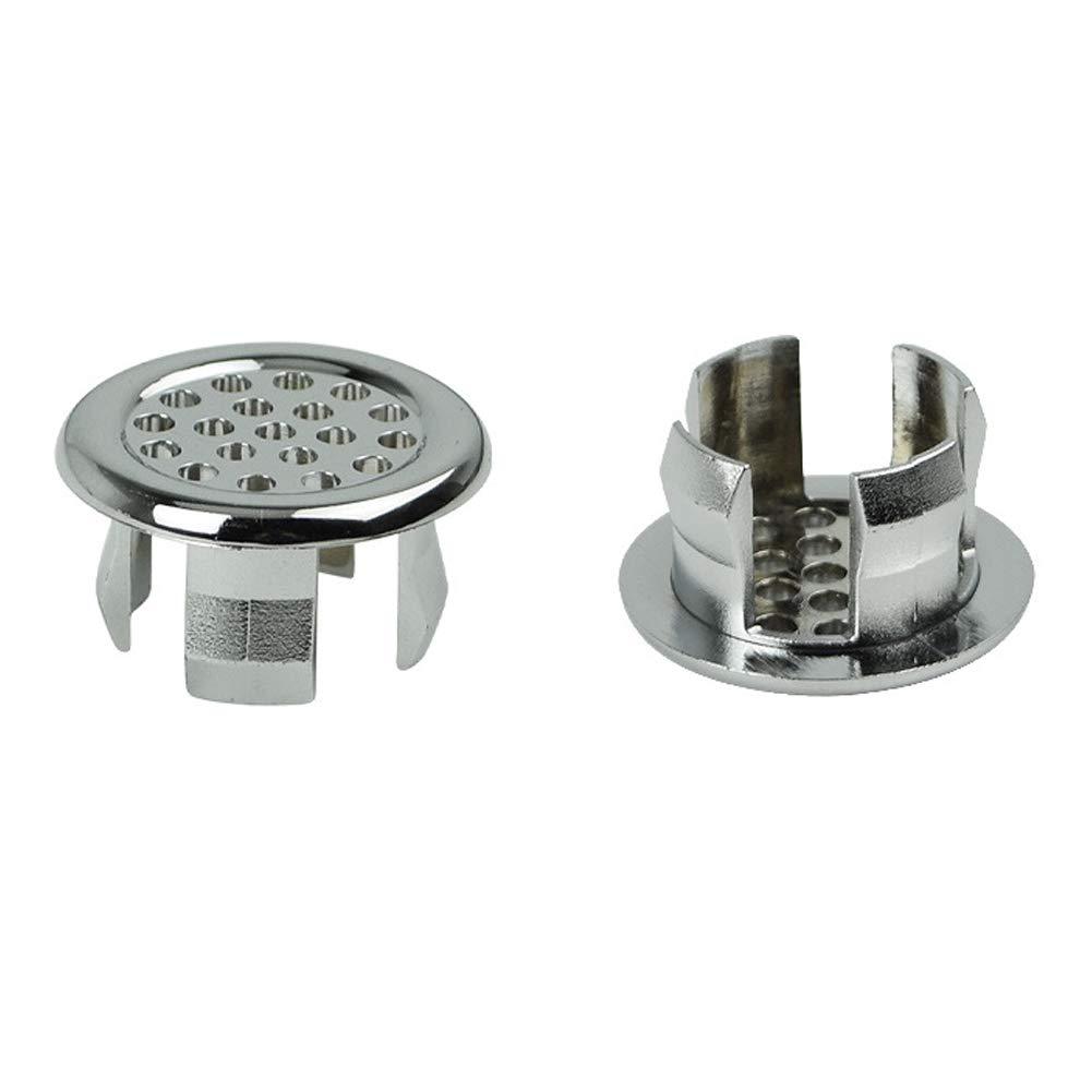 ohne Boden /Überlaufschutz Mayyou /Überlaufring f/ür Waschbecken Silber 01
