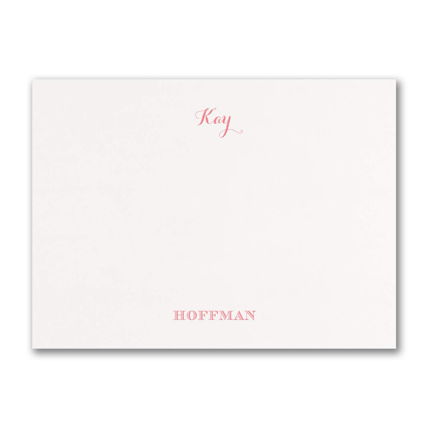 725pk Note Card - White-Personal Stationery