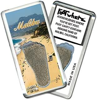 product image for Malibu FootWhere Souvenir Fridge Magnet. Made in USA (MBU201 - @daBeach)