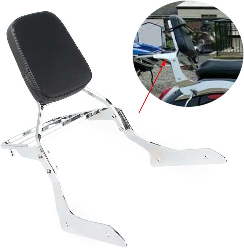 Tourer XVS1300A 2007-2015 GZYF Rear Passenger Backrest Sissy Bar /& Luggage Rack Compatible with Yamaha V-Star XVS1300 Chrome