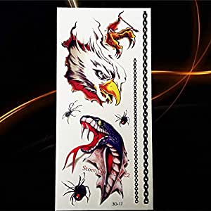 Yyoutop 3D Impermeable e Tatuaje Etiqueta engomada de Halloween ...