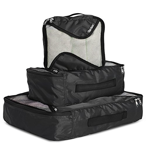 Eco Weekender - Packing Cube Luggage Bags Organizers Small, Medium, Large Packing System for Men Weekender Suitcase Black by Your Choice