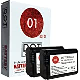 DOT-01 2x Brand 2200 mAh Replacement Sony NP-FW50 Batteries for Sony A6300 DSLR Camera and Sony FW50