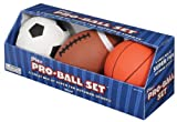 Pro-Ball Set – 5″ Soccerball, 5″ Basketball, 6.5″ Football