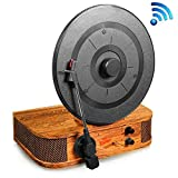 Upgraded Version Pyle Turntable Bluetooth, Dual Built-in Stereo Speakers, 3 Stereo Speed Turntable: 33-1/3, 45, & 78 RPM, Vintage Vinyl, Vertical Record Player Speaker System, USB/MP3, Great For Gifts