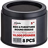 IPrimio Bed And Furniture Risers 8 Pack Round Elevator Up 3 & Lifts