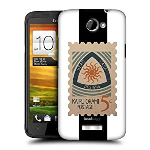 Head Case Designs Heatwave Stamps Protective Snap-on Hard Back Case Cover for HTC One X by ruishername