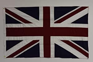 mws United Kingdom UK England Great Britain Embroidered FLAG 100% Cotton 3'x5' FT