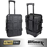 Ultimaxx Waterproof Trolley Hard Case for DJI Phantom 3, 4, Phantom 4 Advanced, Phantom 4 Pro and Pro + Series Quadcopter Drones, Fits Extra Accessories
