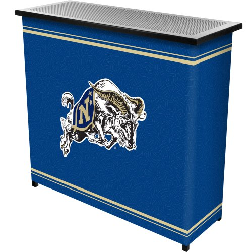 NCAA United States Naval Academy Two Shelf Portable Bar with Case by Trademark Gameroom