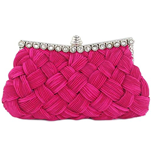 red rosy SSMK pour Bag femme Pochette Evening bright xwTfPB1Hq