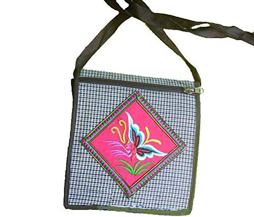 Chinesische Handtasche Schulter Durch K&#246rper Tasche 100% von Stamm Frauen Handgemacht # 565(I) - Freier Versand, Weltweit