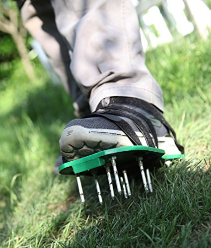 MAXTID Upgraded Lawn Aerator Shoes - with 10 Adjustable Cinch Straps, Heavy Duty Lawn Spiked Soil Sandals for Aerating Your Garden or Yard (1 Pair) Universal Size by MAXTID (Image #5)