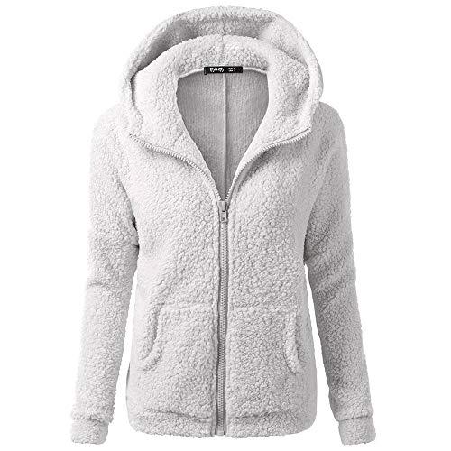 - Dressin Women Hooded Sweater Coat Winter Warm Zipper Coat Cotton Coat Outwear