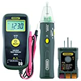 General Tools KT5 Electrical Trouble Shooting Kit, 3 pcs set (GFCI Tester, Non-Contact Voltage Detector & Smart Multimeter), Ideal for Checking Outlets and Wiring, Measures AC/DC Voltage