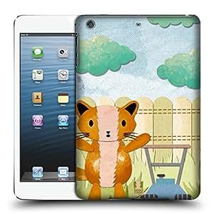 Head Case Designs Cortacésped Gatito Torpe Caso Duro Trasero para Apple iPad mini 1 / 2 / 3