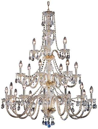 Classic Lighting 8201 GP I Monticello, Crystal All Glass, Chandelier, 36