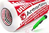 ArmorDillo Strong 3 Ply 24' x 200' Carpet Protection Film. Strongest - Easiest To Use Carpet Cover, Clear Protective Film, Surface Protection Film, Paint Protection Film and Utility Knife