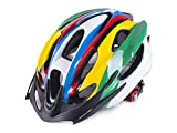 Yunqir Men Women Porous Ventilation Mountain Bicycle Helmet One-Piece Bike Helmet(Colorful)