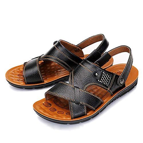 Men Sandals Genuine Split Leather Men Beach Sandals Men Slippers Sneakers Summer Shoes,1,8.5