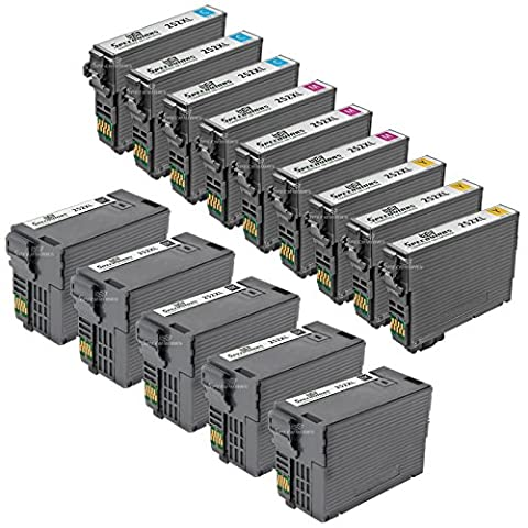 Speedy Inks - Remanufactured Set of 14 Ink Cartridges for Epson T252XL Series 5x T252XL120 Black, 3x T252XL220 Cyan, 3x T252XL320 Magenta, & 3x T252XL420 Yellow for use in WF-3620, WF-3640, (Epson Ink For Wf3620)