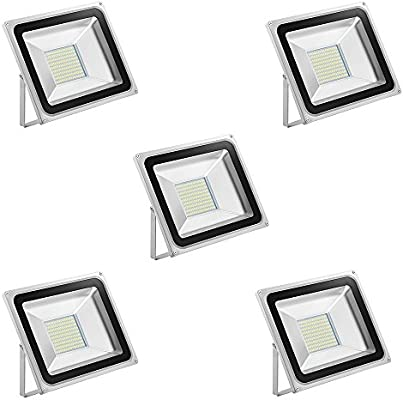 Foco LED 100W Blanco frío 6500K, Proyector LED Exteriores ...