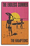 The Hamptons, New York - The Endless Summer - Original Movie Poster (10x15 Wood Wall Sign, Wall Decor Ready to Hang)