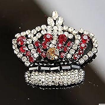 f20c0a1e61 Amazon.com: Beaded Beading Rhinestones Crown Patches Crown Beaded ...