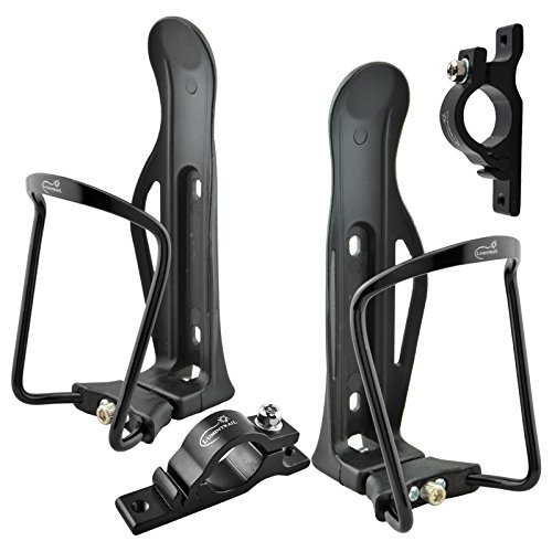 Lumintrail Adjustable Bike Bicycle Lightweight Aluminum Alloy Water Bottle Cage Holder with Handlebar Mount Bracket (1 or 2 Packs) ()