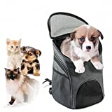 Small Animals Backpack Breathable Mesh Soft-side Puppies Cats Kittens and Rabbits Adjustable Comfortable Chihuahua Yorkies Shih Tzus Carrier for Hiking Outdoor Travel