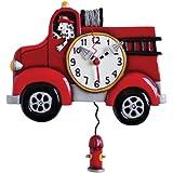 Allen Designs - Reloj de pared, diseño de camión de bomberos
