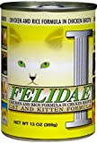 Felidae Canned Cat Food for Adult Cats and Kittens, Chicken and Rice Formula in Chicken Broth (Pack of 12 13 Ounce Cans), My Pet Supplies