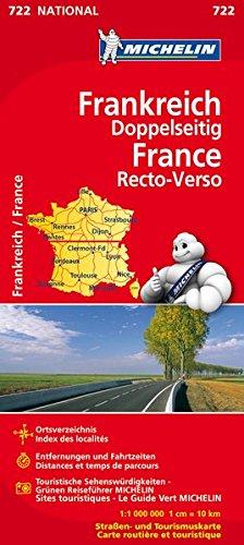 Michelin Frankreich doppelseitig: Straßen- und Tourismuskarte (MICHELIN Nationalkarten, Band 722)