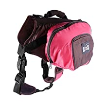Surblue Pet Backpack for Dogs Adjustable Dog Outdoor Accessory Saddlebags