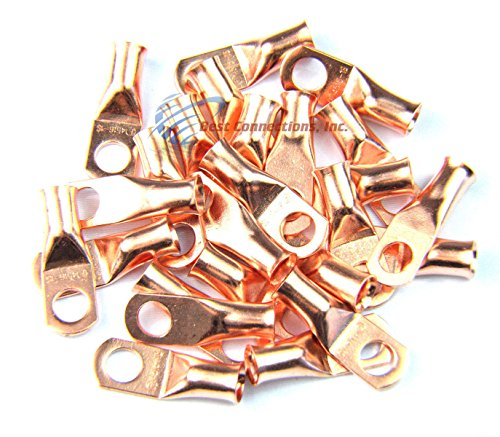 4 Ga 5/16'' Ring Terminal Copper Non-Insulated Install Bay Metra 25 Pieces by Install Bay (Image #1)