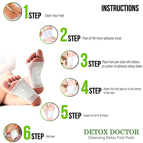 Foot Pads - (20 pack) New 2018 Patch   Sleep Better, Pain Relief, Remove Impurities, Relieve Stress   Bamboo Vinegar Foot Care Adhesive by foot comforts (Image #2)