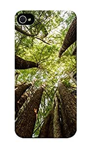 Iphone 5/5s Case Cover - Slim Fit Tpu Protector Shock Absorbent Case (tall Trees)
