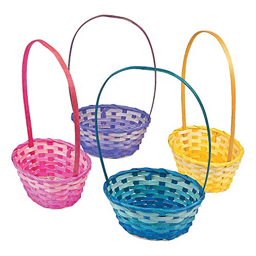 Fun Express - Ombre Bamboo Baskets for Easter - Party Supplies - Containers & Boxes - Misc Containers & Boxes - Easter - 12 - Oriental Basket Easter