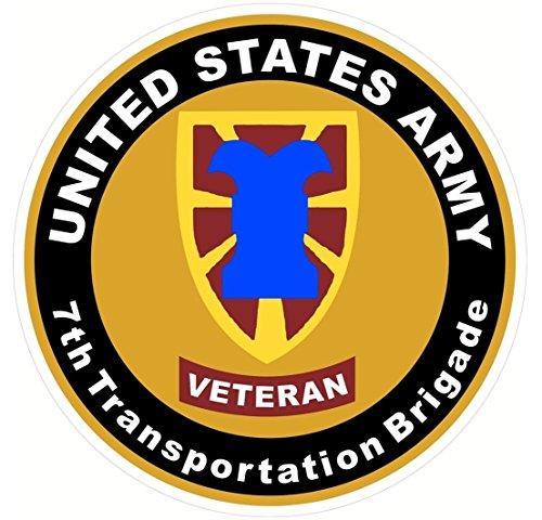 1 Set Paradisiac Popular US Army Veteran 7th Tranportation Brigade Sticker Signs Indoor Door Outdoor Size 8