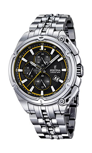 Festina F16881-7 Mens 2015 Chrono Bike Tour De France Silver Watch