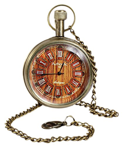 Buy cheap unisex antique case vintage brass rib chain quartz pocket watch for men women