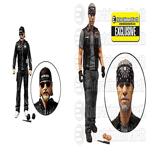 Sons of Anarchy Clay Morrow & Jax Teller 6-inch Variant Action Figure 2-Pack - Entertainment Earth Exclusive by - Wears Jax Sunglasses Teller