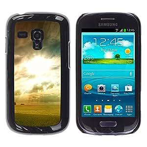 Exotic-Star ( Dawn photo ) Fundas Cover Cubre Hard Case Cover para Samsung Galaxy S3 III MINI (NOT REGULAR!) / I8190 / I8190N