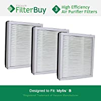 3 - Idylis Air Purifier Filter B. Idylis IAF-H-100B. Designed by FilterBuy to fit Idylis IAP-10-050 & IAP-10-125.