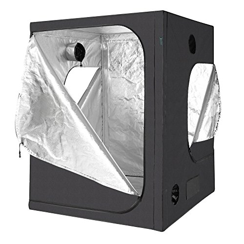 IDAODAN Grow Tent, 60''x60''x80'' 600D Mylar Hydroponic Indoor Grow Tent for Plant Growing - Ultra Strong by IDAODAN