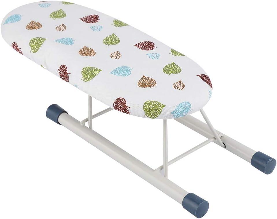Planche /à repasser Color : Leaves . manchettes Mini-table /à repasser pliable et compacte hiver Manches de voyage cols et tablettes Home Table de manutention