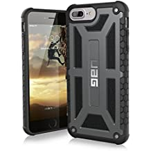 UAG iPhone 8 Plus/iPhone 7 Plus/iPhone 6s Plus [5.5-inch screen] Monarch Feather-Light Rugged [GRAPHITE] Military Drop Tested iPhone Case