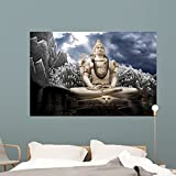 Big Lord Shiva Statue Wall Mural by Wallmonkeys Peel and Stick Graphic (60 in W x 40 in H) WM139666