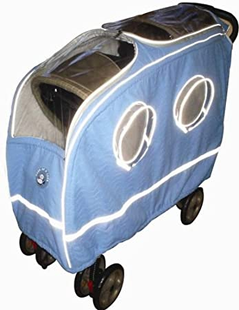 7bd30c3eac64 Amazon.com   Warm as a Lamb Tandem Stroller Cover Blue   Baby ...